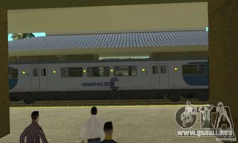 Cerberail Train para GTA San Andreas vista posterior izquierda