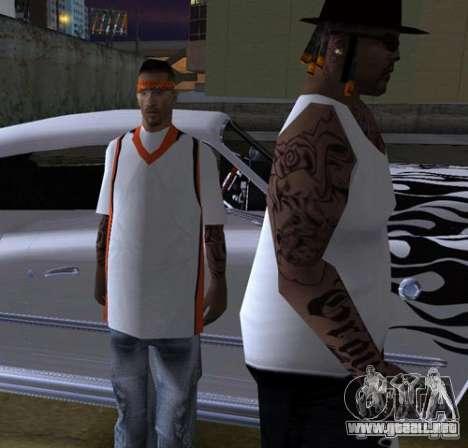 Bandas de reemplazo, tatuajes, ropa, etc.. para GTA San Andreas undécima de pantalla