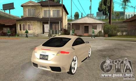 Audi TT Quattro 2007 para la visión correcta GTA San Andreas
