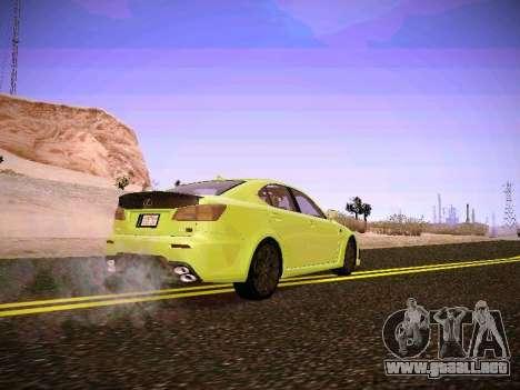 Lexus I SF para GTA San Andreas vista posterior izquierda