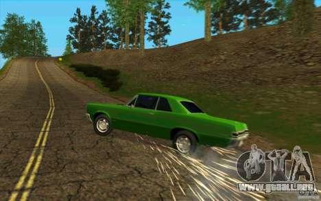 Pinchazo de neumático para GTA San Andreas