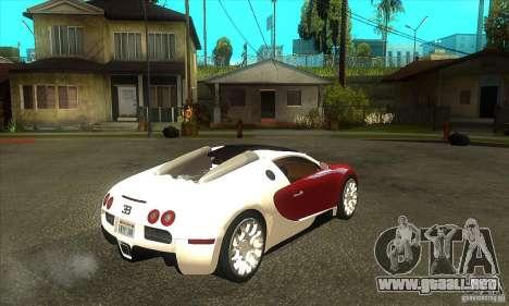 Bugatti Veyron Grand Sport para la visión correcta GTA San Andreas