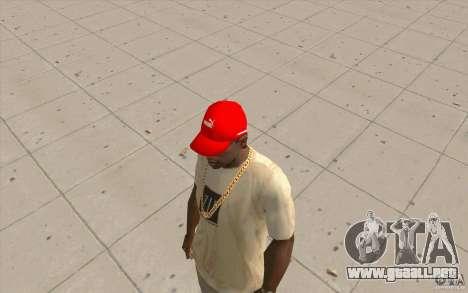 Rojo brillante Puma Cap para GTA San Andreas