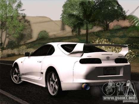 Toyota Supra TRD3000GT v2 para GTA San Andreas vista hacia atrás