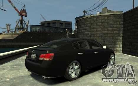 Lexus GS450 2006 para GTA 4 visión correcta