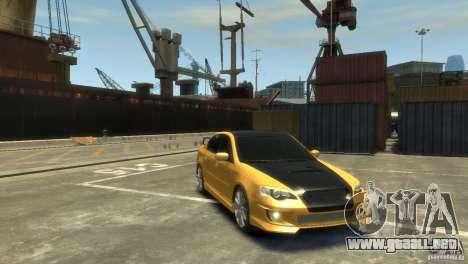 SUBARU Legacy B4 tuning para GTA 4 Vista posterior izquierda