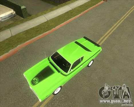 1971 Dodge Charger Super Bee para visión interna GTA San Andreas