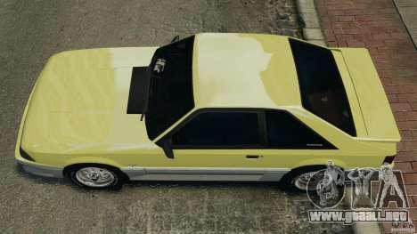Ford Mustang GT 1993 v1.1 para GTA 4 visión correcta