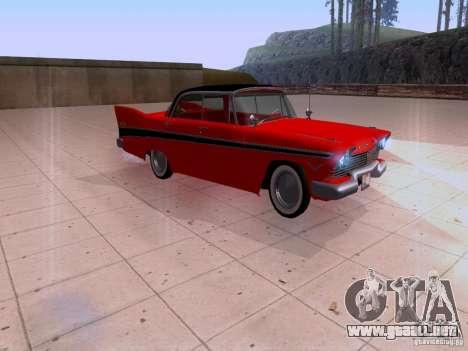 Plymouth Belvedere Sport Sedan 1957 para GTA San Andreas vista posterior izquierda