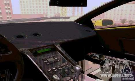 Lamborghini Diablo SV 1997 para vista lateral GTA San Andreas