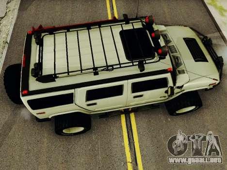 Hummer H2 Monster 4x4 para la visión correcta GTA San Andreas