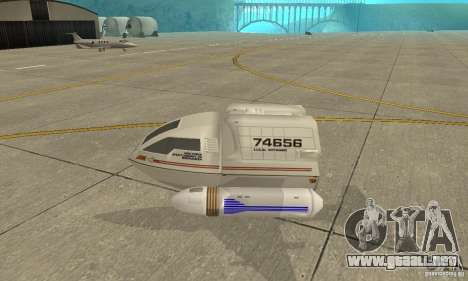 Shuttle-NCC-74656 para GTA San Andreas left