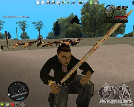Smalls Chrome Gold Guns Pack para GTA San Andreas sexta pantalla