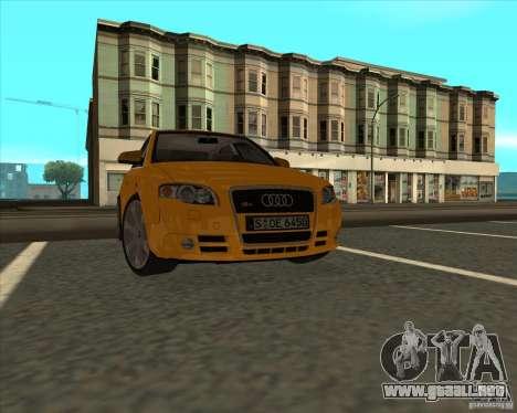 AUDI S4 Sport para la visión correcta GTA San Andreas