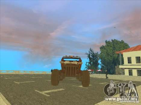 Jeep from Red Faction Guerrilla para GTA San Andreas vista hacia atrás