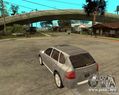 Porsche Cayenne Turbo para GTA San Andreas left