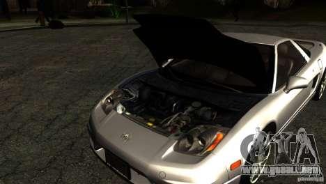 Acura NSX Stock para vista inferior GTA San Andreas