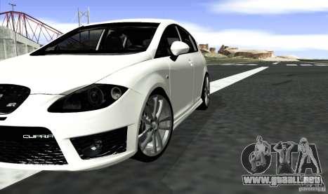 Seat Leon Cupra R para GTA San Andreas vista posterior izquierda