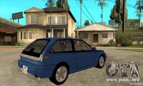 Volvo 480 Turbo para la visión correcta GTA San Andreas