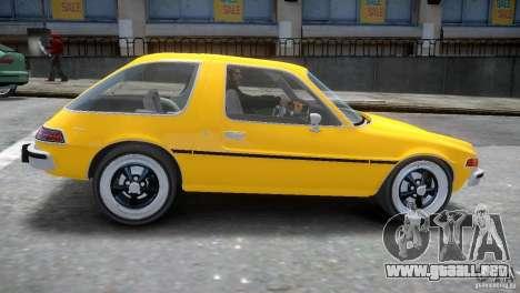 AMC Pacer 1977 v1.0 para GTA 4 vista interior