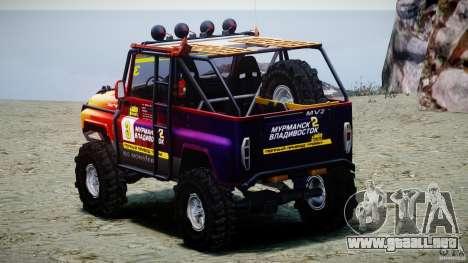 UAZ Hunter juicio v1.0 para GTA 4 vista lateral