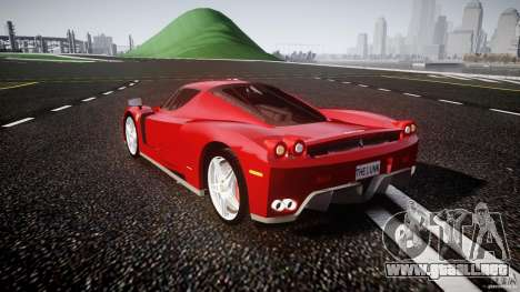 Ferrari Enzo para GTA 4 Vista posterior izquierda