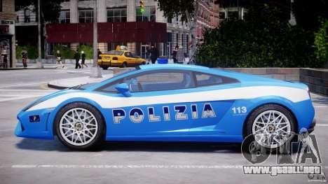 Lamborghini Gallardo LP560-4 Polizia para GTA 4 Vista posterior izquierda