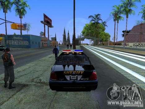 Ford Crown Victoria Erie County Sheriffs Office para la visión correcta GTA San Andreas