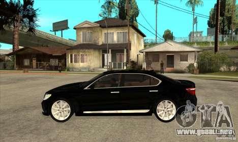 Lexus LS460L 2010 para GTA San Andreas left