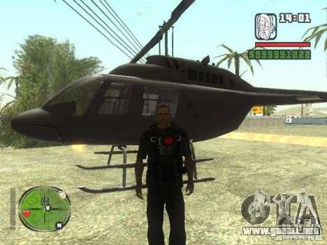 Me encanta mi camiseta (IV) para GTA San Andreas tercera pantalla