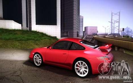 Porsche 911 GT3 (997) 2007 para GTA San Andreas vista hacia atrás