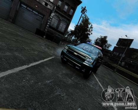 Chevrolet Tahoe Hungarian Vam-Zoll Custom para GTA 4 visión correcta