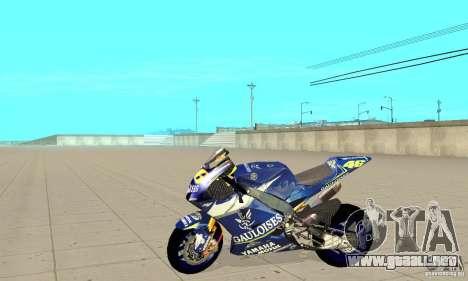 Honda Valentino Rossi Fcr900 para GTA San Andreas left