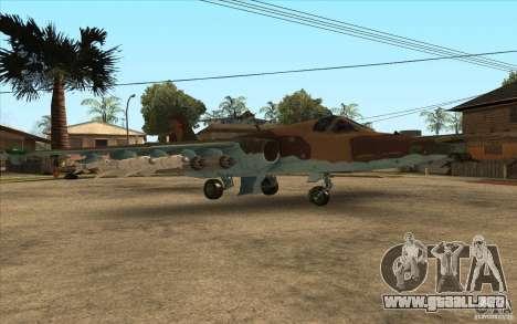 El Su-25 para la visión correcta GTA San Andreas