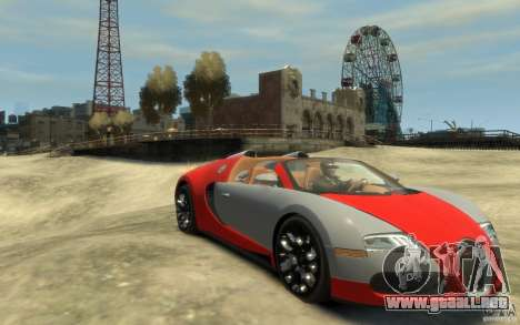 2009 Bugatti Veyron Grand Sport [EPM] para GTA 4 vista hacia atrás