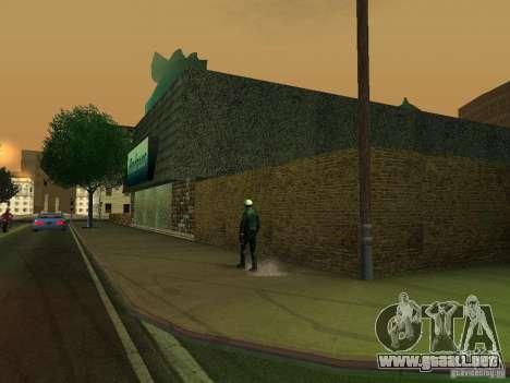 Cafe de Andreas para GTA San Andreas sucesivamente de pantalla