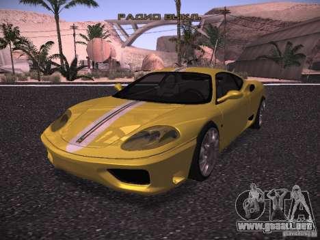 Ferrari 360 Modena para visión interna GTA San Andreas