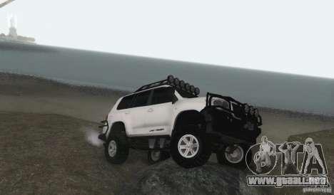 Toyota Land Cruiser 200 Off Road v1.0 para GTA San Andreas vista posterior izquierda