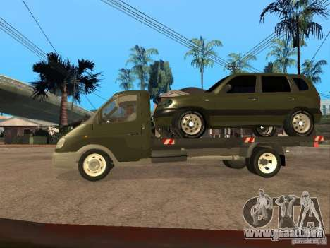 GAZ 3302 v 1.2 (gacela grúa) para GTA San Andreas left