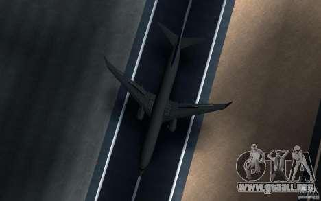 Sukhoi SuperJet-100 para GTA San Andreas vista hacia atrás
