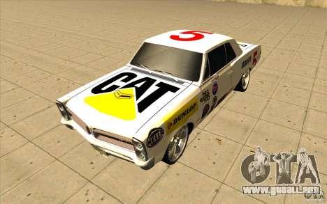 Pontiac GTO 1965 NFS Pro Street con vinilos nuev para GTA San Andreas interior