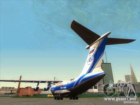 Aeroflot IL de 76 m para GTA San Andreas vista posterior izquierda