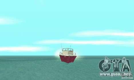 Sports Fishing Boat para la visión correcta GTA San Andreas