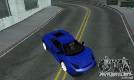 Lamborghini Murcielago Tuned para la vista superior GTA San Andreas