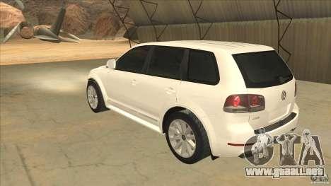 Volkswagen Touareg R50 para GTA San Andreas vista posterior izquierda