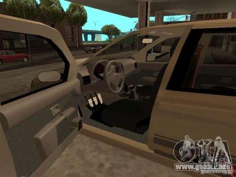 Fiat Palio 1.8R para GTA San Andreas vista posterior izquierda