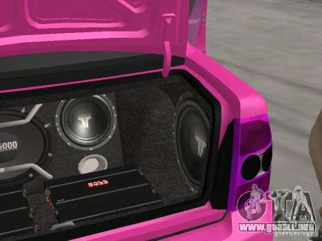 Lada Priora Emo para vista inferior GTA San Andreas