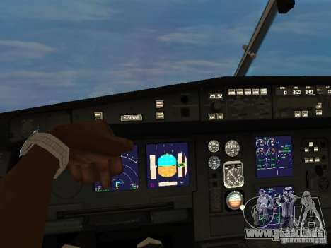 Airbus A340-300 Air Canada para GTA San Andreas vista hacia atrás