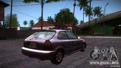 Honda Civic Tuneable para la visión correcta GTA San Andreas