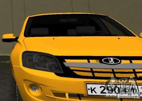 Lada Granta v2.0 para GTA Vice City vista posterior
